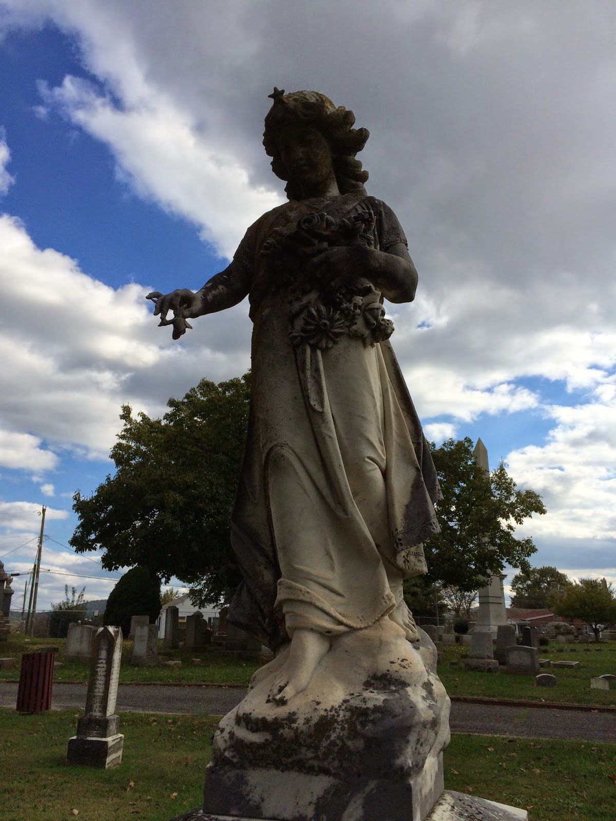 October at Lynchburg's Spring Hill Cemetery