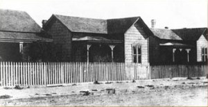Mason's First Street home in the 1870s; photo via UCLA Special Collections