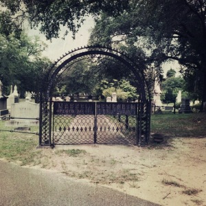 The entrance to the Hebrew Cemetery