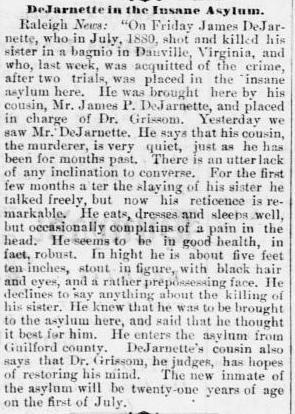 dejarnette asylum Memphis daily appeal. (Memphis, Tenn.) 1847-1886, May 03, 1881