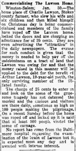 Lawson fees The Landmark 3 Feb. 1929