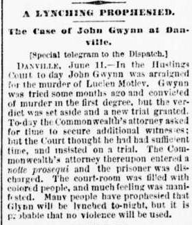 gwynn Richmond dispatch., June 12, 1887